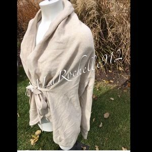 BCBG cream cardigan sweater RARE!